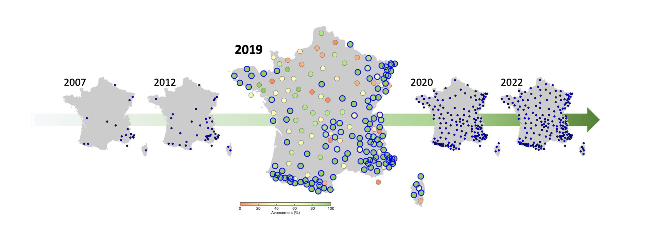 Evolution du réseau large bande permanent jusqu'en 2022